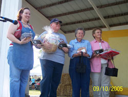 The four winners of the Bread Baking Contest recieved many different prizes. Click the photo to see a closer view.